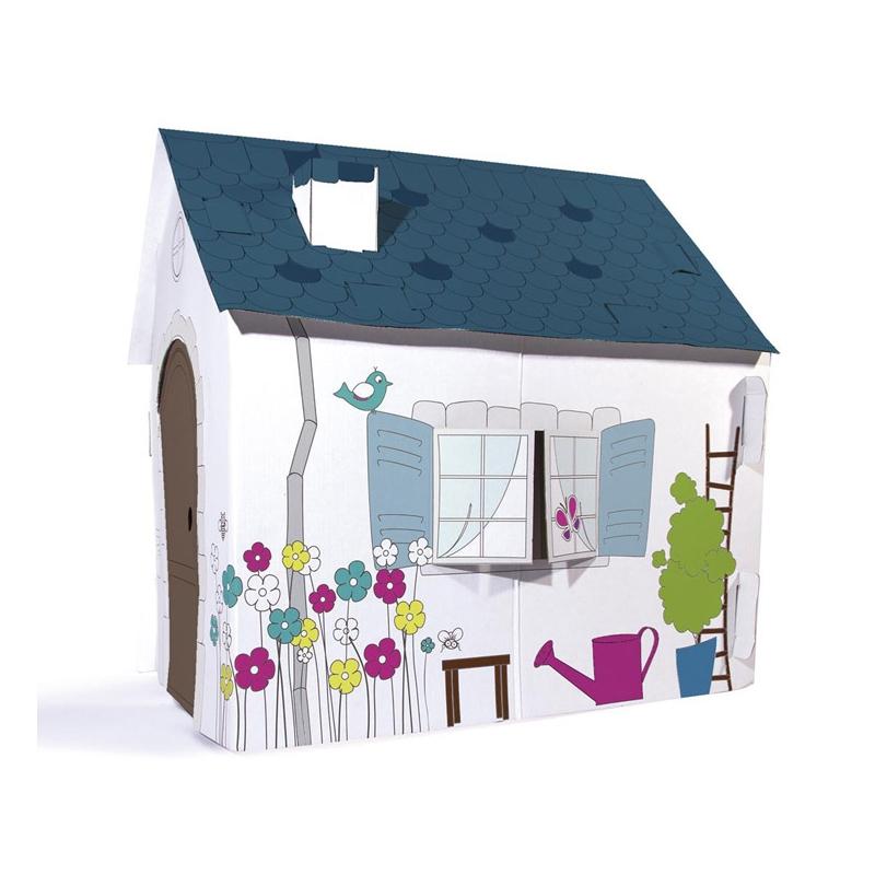 Maison colorier easydistri for Maison en carton a colorier