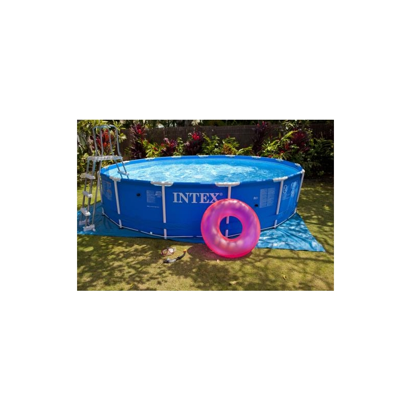 Piscine tubulaire ronde 3 66 x 0 99 m intex easydistri for Piscine ronde plastique