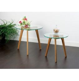 Table basse - Lot de 2 - Verre
