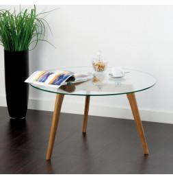 Table basse ronde - Verre - D 80 cm