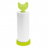 Porte-rouleau essuie-tout - Miaou - 12,8 x 36,9 cm - Plastique - Vert