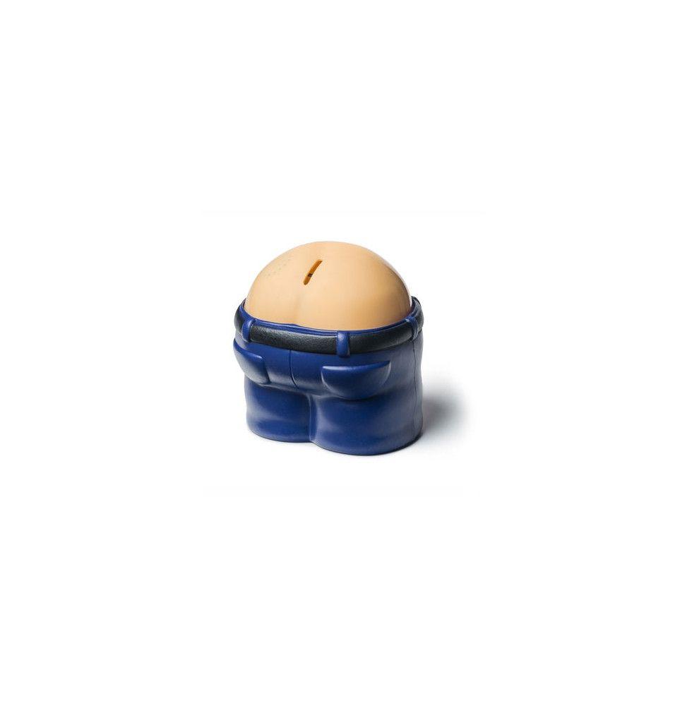 Tirelire Fanny Bank - H 15 cm -  Bleu