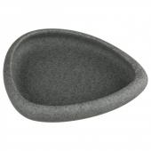 Porte savon - 12 x 10,5 cm - Céramique - Gris