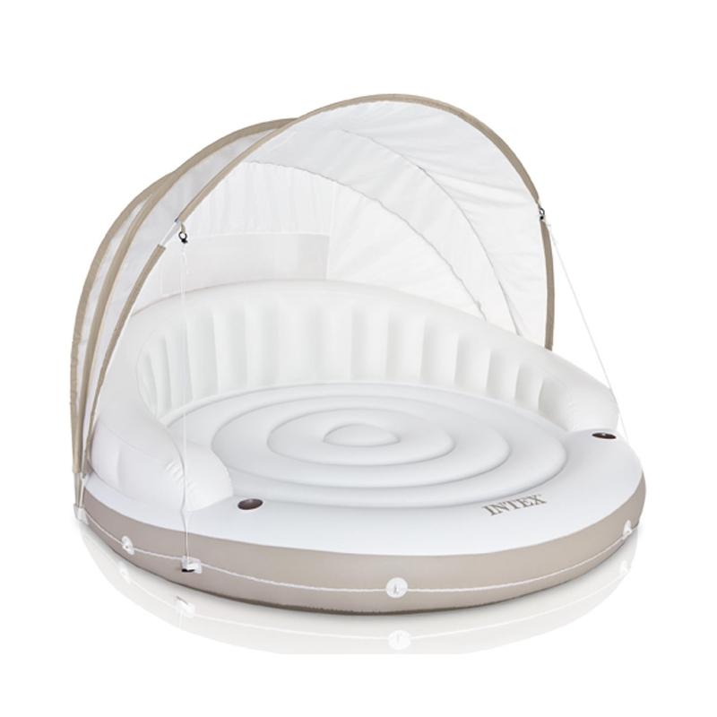Canap lounge gonflable intex sofa d 39 ext rieur for Canape gonflable exterieur alinea