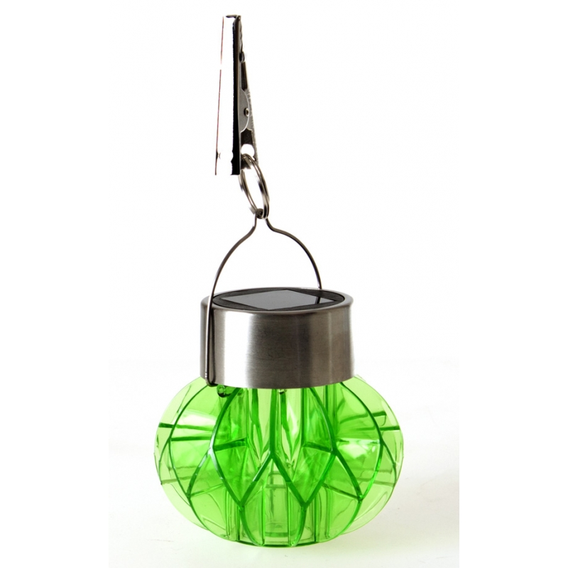 lampe solaire suspendre vert inox acrylique. Black Bedroom Furniture Sets. Home Design Ideas