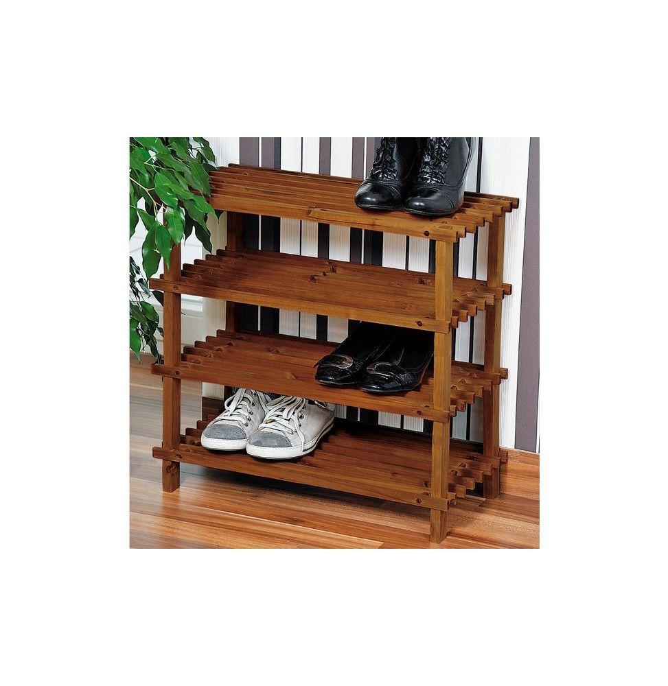range chaussure bois meuble de rangement destockage grossiste. Black Bedroom Furniture Sets. Home Design Ideas
